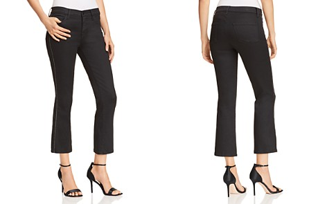 J Brand Selena Mid Rise Coated Cropped Bootcut Jeans in Admiration - Bloomingdale's_2
